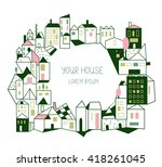 real estate background with... | Shutterstock .eps vector #418261045