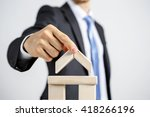 concept of business hierarchy... | Shutterstock . vector #418266196