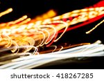colorful moving bokeh lights...   Shutterstock . vector #418267285