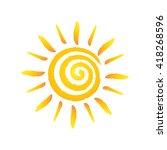 Hand Drawn Spiral Shinny Sun....