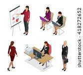 business woman management.... | Shutterstock .eps vector #418272652