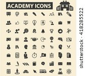 academy icons  | Shutterstock .eps vector #418285522