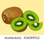 kiwi fruit   Shutterstock .eps vector #418289512