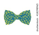 bow tie. snorkel blue and... | Shutterstock .eps vector #418298965