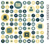 flat design icons for business. ...