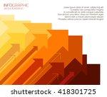 success arrows  vector | Shutterstock .eps vector #418301725