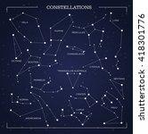 constellations  night sky ...   Shutterstock .eps vector #418301776