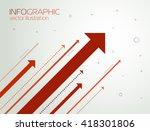 success arrows  vector | Shutterstock .eps vector #418301806