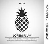 pineapple icon. pineapple...   Shutterstock .eps vector #418306642