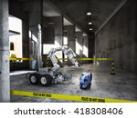 police controlled bomb squad...   Shutterstock . vector #418308406