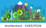 vector flat illustrations   eco ...   Shutterstock .eps vector #418319236