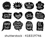 Vector Set Of Sale Lettering I...