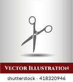 Scissors Icon Vector Symbol...