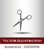 Scissors Icon Vector Symbol...