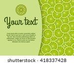 lime banner. citrus design... | Shutterstock .eps vector #418337428