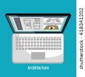 architectural work design  | Shutterstock .eps vector #418341202
