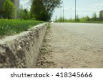 Kerb Line Or Curb Stone Borde...