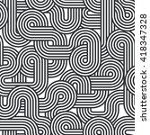 vector geometric seamless... | Shutterstock .eps vector #418347328