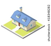 isometric image of a private... | Shutterstock .eps vector #418348282