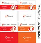 two houses business card 1 | Shutterstock .eps vector #418349752