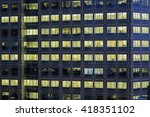 Office Lights In A Grid Turn O...