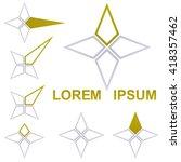 star logo design template set...   Shutterstock .eps vector #418357462