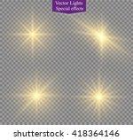 glow light effect. star burst... | Shutterstock .eps vector #418364146