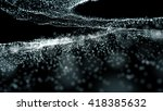 abstract white particles... | Shutterstock . vector #418385632