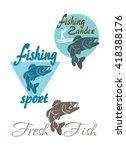 shown on perch fishing logo | Shutterstock .eps vector #418388176