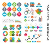 wifi  calendar and web icons.... | Shutterstock .eps vector #418391902