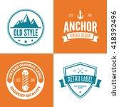 set of vector logotypes... | Shutterstock .eps vector #418392496