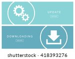set of flat design concepts... | Shutterstock .eps vector #418393276