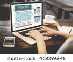 website www web browser... | Shutterstock . vector #418396648