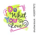 vector vintage card with phrase.... | Shutterstock .eps vector #418397872