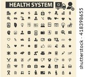 health system icons  | Shutterstock .eps vector #418398655