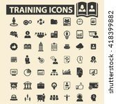 training icons  | Shutterstock .eps vector #418399882