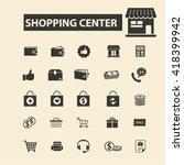 shopping center icons  | Shutterstock .eps vector #418399942