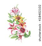 Watercolor Decorative Twig Wit...
