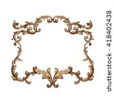 vintage baroque frame scroll...   Shutterstock .eps vector #418402438