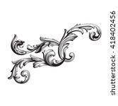 vintage baroque frame scroll... | Shutterstock .eps vector #418402456