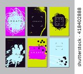 collection of trendy cards with ... | Shutterstock .eps vector #418402888