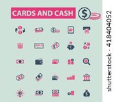 cards and cash icons  | Shutterstock .eps vector #418404052