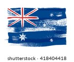 australia colorful brush... | Shutterstock .eps vector #418404418