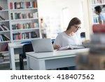female student study in ...   Shutterstock . vector #418407562
