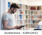 student preparing exam and... | Shutterstock . vector #418413412