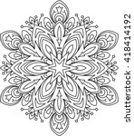 abstract vector round lace... | Shutterstock .eps vector #418414192