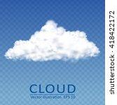 vector cloud on a transparent... | Shutterstock .eps vector #418422172