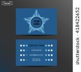 business card template.... | Shutterstock .eps vector #418422652