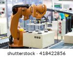 industrail robotic arm for... | Shutterstock . vector #418422856