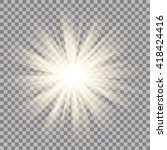 sparkling sun rays burst with...   Shutterstock .eps vector #418424416